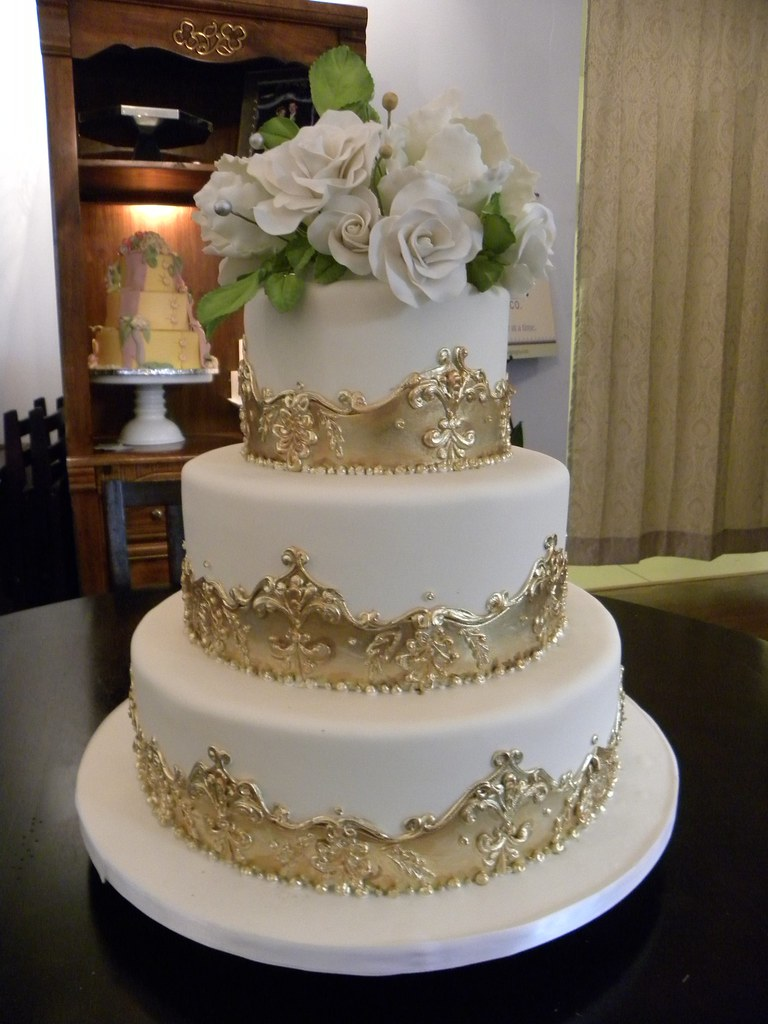 gold wedding cakes gallery s gold cake cut and painted guilded frame 14819