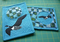 mug rug pair by What Comes Next