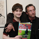 Daniel Radcliffe and former Big Issue vendor Steve Farrell
