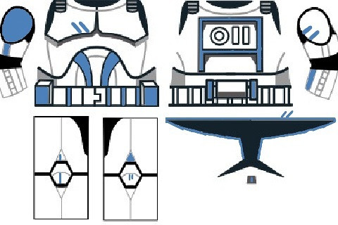 lego clone trooper blue decals template from dutch please flickr