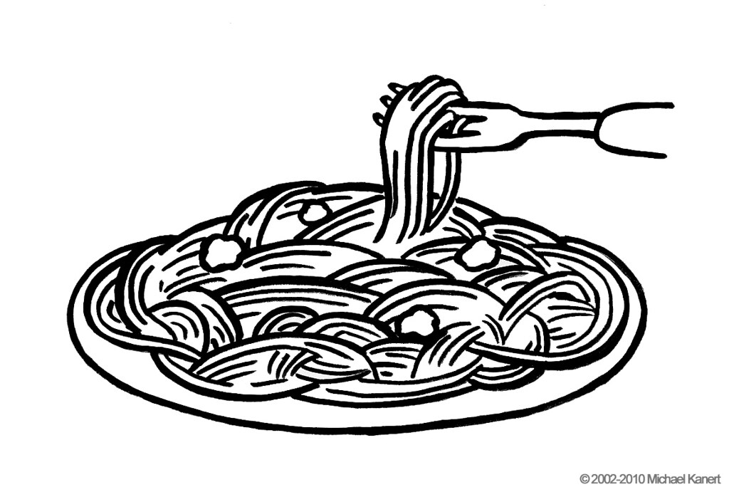 Coloring page noodles noodles ham coloring pages food for Italian food coloring pages