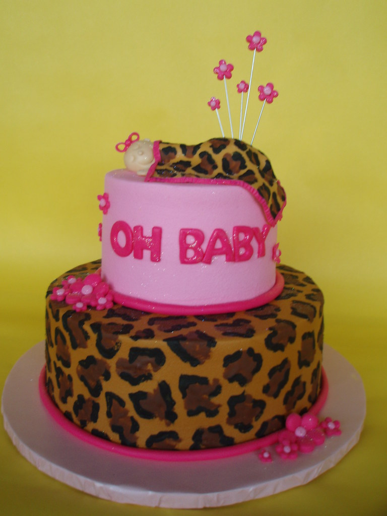 leopard baby shower cakes pink and leopard baby shower cake what 39 s