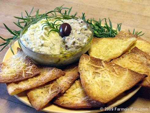 Artichoke and Rosemary White Bean Dip | by Farmgirl Susan