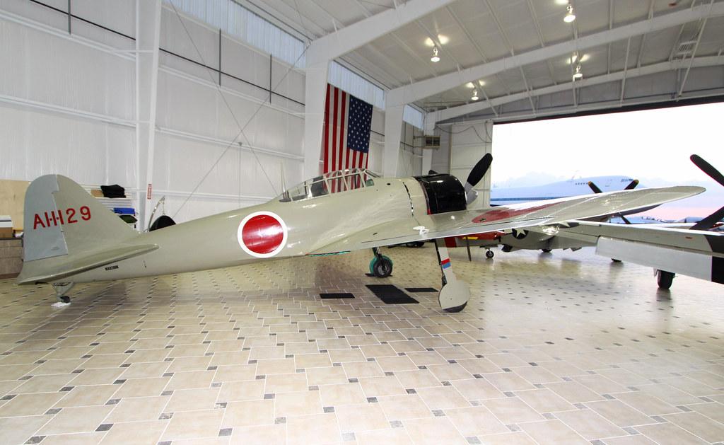Nakajima A6m2 21 Zero Zeke N8280k Fighter Hangar 1 Tex