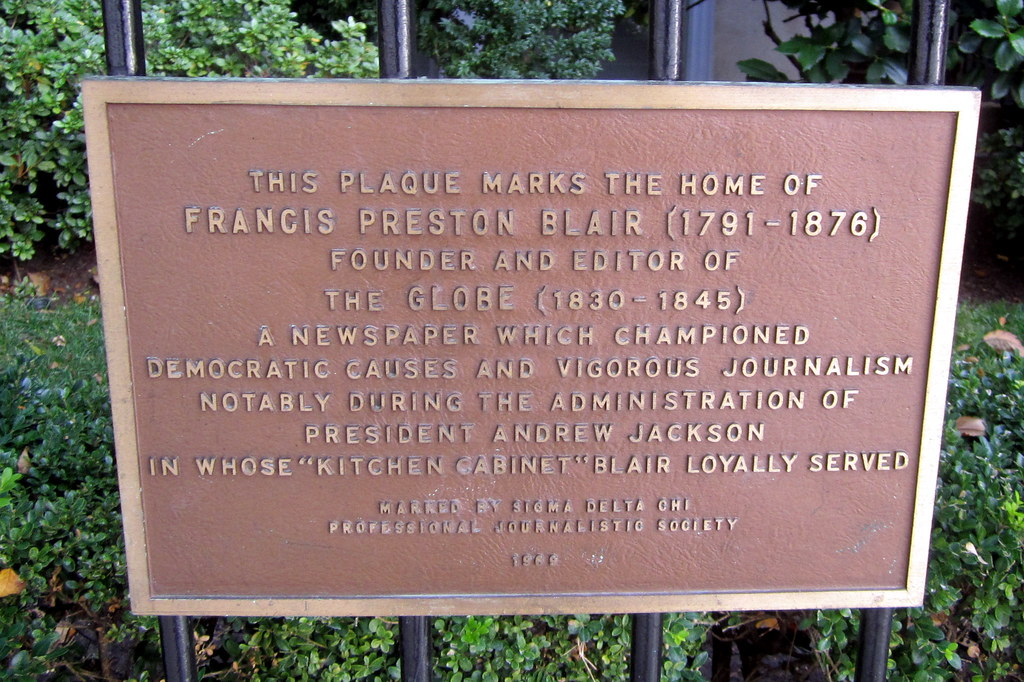 Washington DC: Blair House | This plaque marks the home of ...