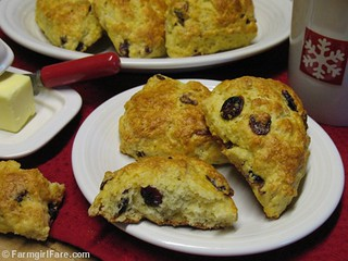 Cranberry Christmas Scones | by Farmgirl Susan