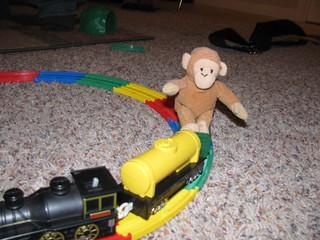 Monkey Girl gives Monkey a ride