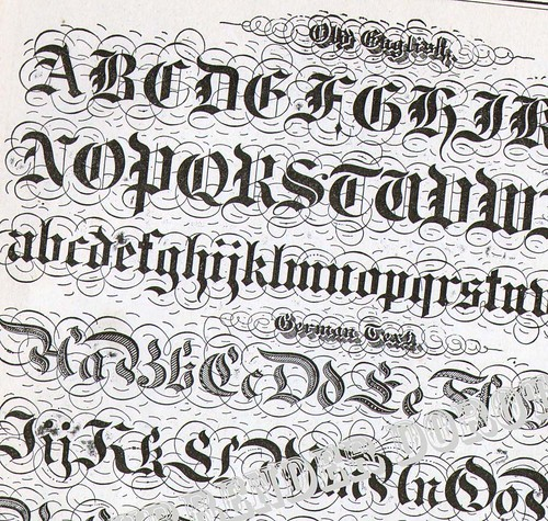 Lettering Alphabet Victorian Calligraphy Lessons 1886 Flickr