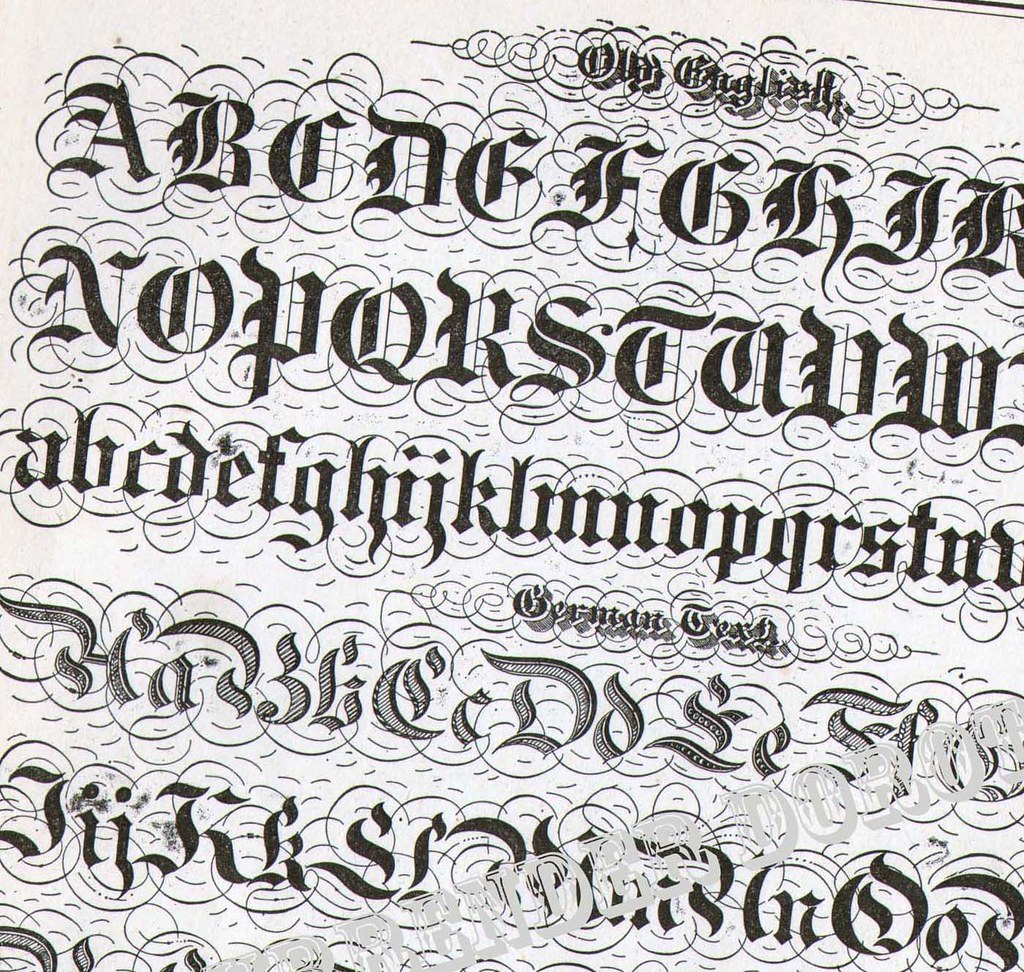 Lettering alphabet victorian calligraphy lessons flickr