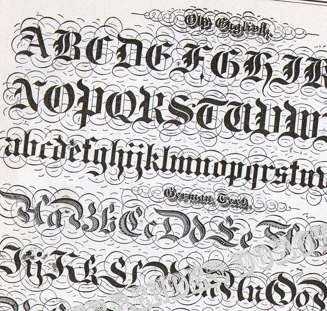 Lettering alphabet victorian calligraphy lessons