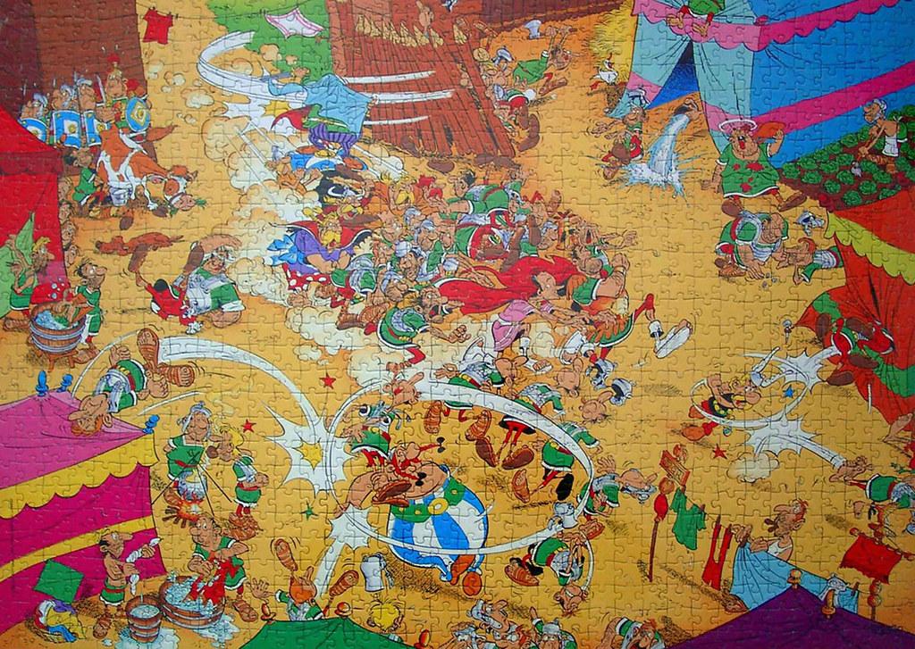 Jigsaw Puzzle 1000 Ravensburger Asterix und Obelix Ach du dicker