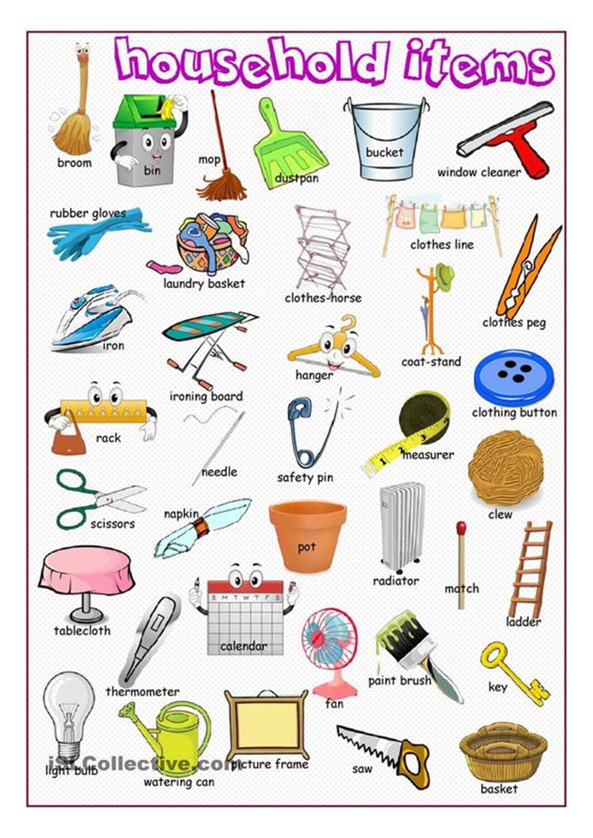 English Vocabulary: Household Items 3