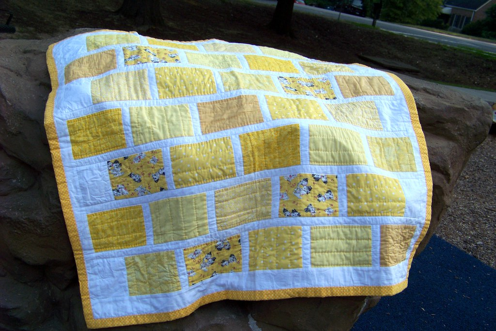 Free Quilt Pattern For Yellow Brick Road : Yellow Brick Road Quilt Hand quilted baby quilt featuring ? Flickr