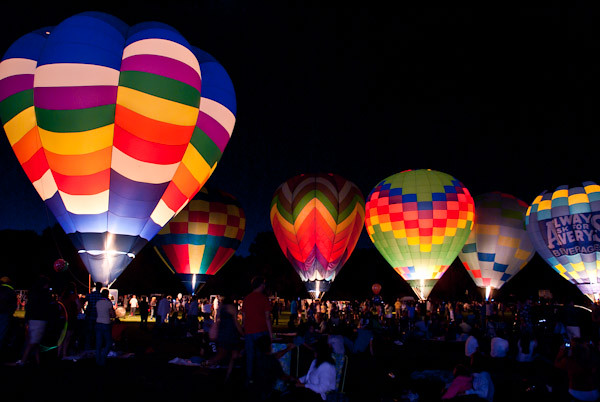 hot air balloon GLOW | The culmination of the Friday night ...