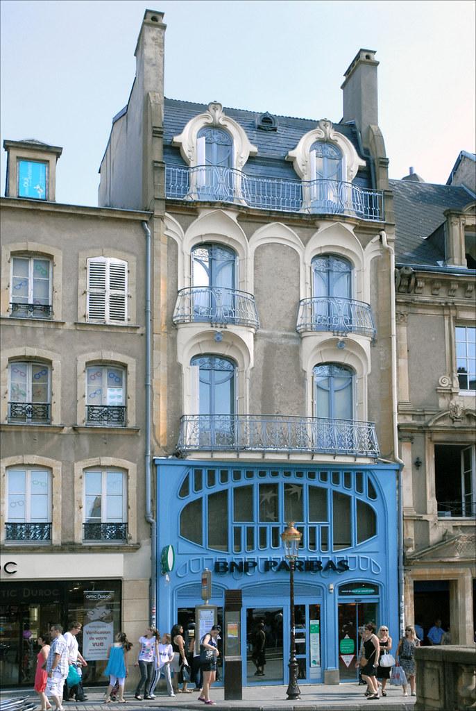 Maison art nouveau metz le style de la maison bleue - Art nouveau architecture de barcelone revisitee ...