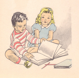 girl and boy with books | by katinthecupboard