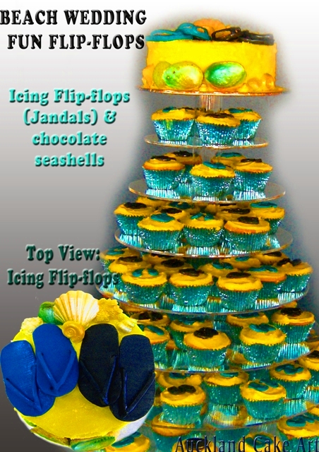 3d677cec9 BEACH WEDDING FLIP FLOPS CUPCAKES NEW ZEALAND