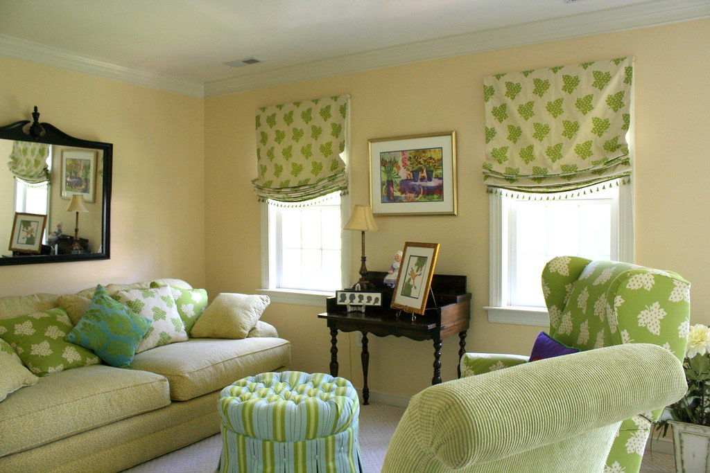 Green and blue living room home tour cindy spangler - Green and blue living room pictures ...