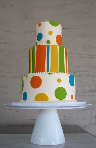 Tiered Dot and Stripe Cake | by Whipped Bakeshop