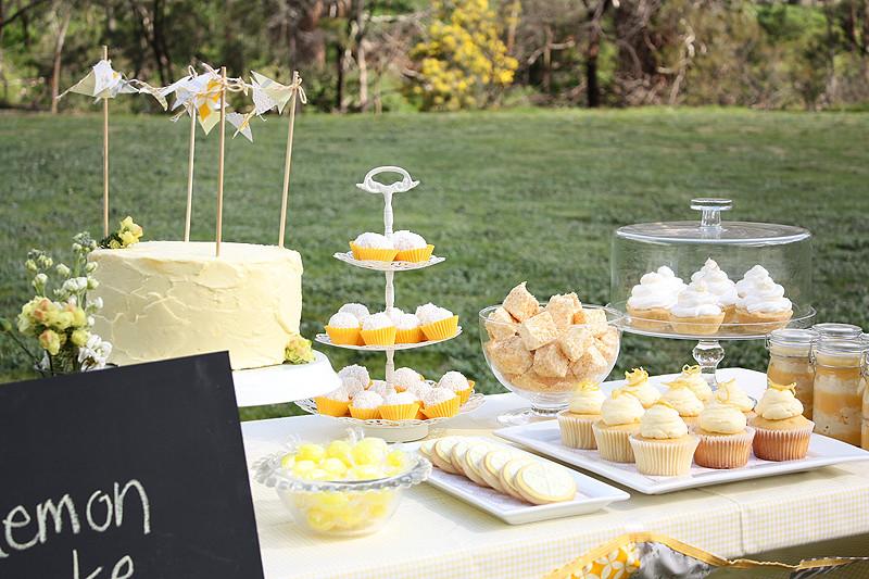 Table Picnic With Lemon Cake