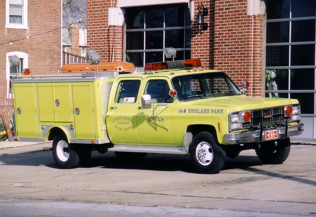 Highland Park Fire Co Upper Darby Twp Pa 1980 Gmc