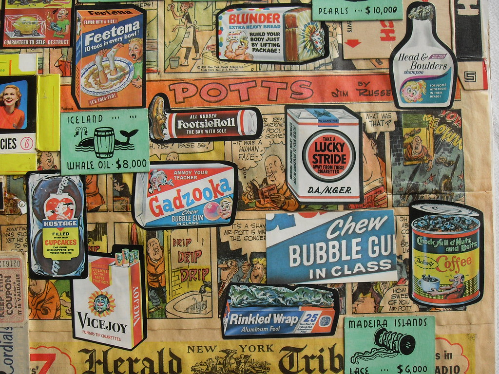 ... Christian Montone 2003 Wacky Packages 1970s Vintage 1950s 1960s Paper Items  Collage DETAIL B | by