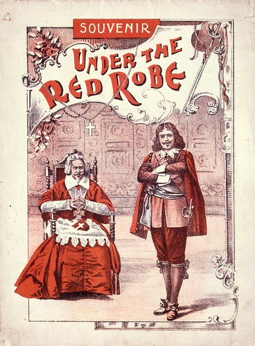 "Artist unknown :Souvenir [of the play] ""Under the red robe"". [Cover. Melbourne, 1898] 
