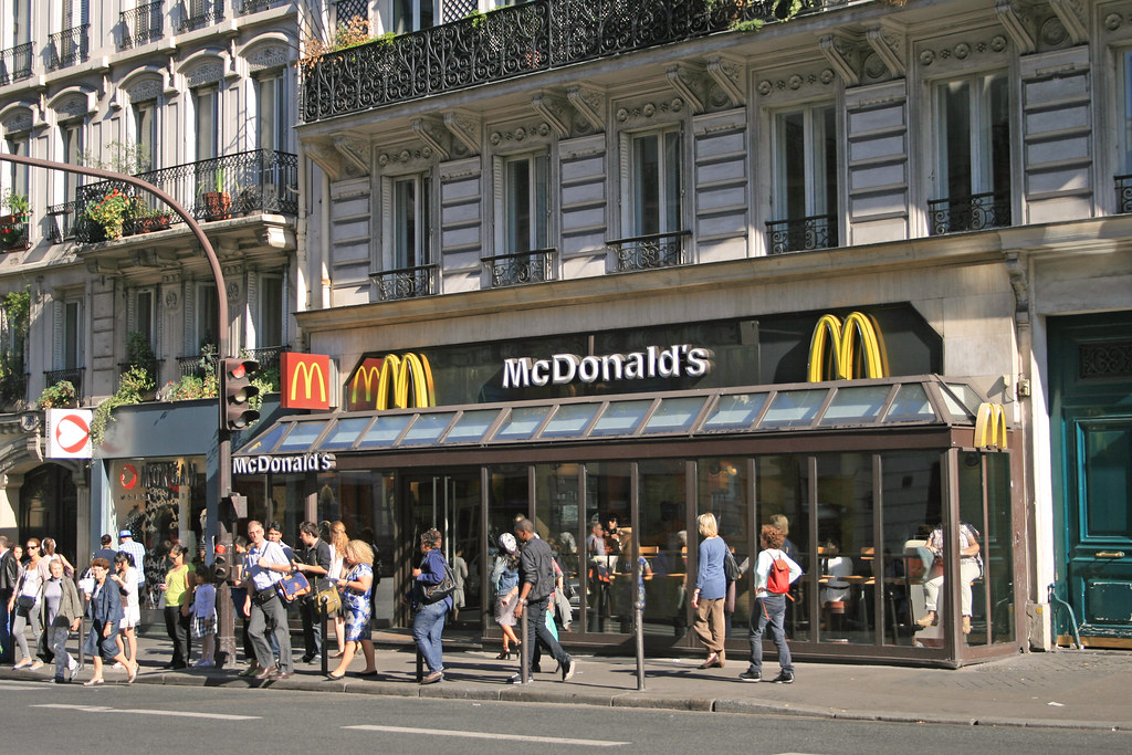 mcdonald 39 s paris rue de rennes france one of the. Black Bedroom Furniture Sets. Home Design Ideas