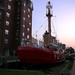 Lightship Portsmouth, Virginia sailing up the concrete street