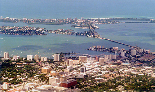 Sarasota - Downtown from Air (2000) | by roger4336