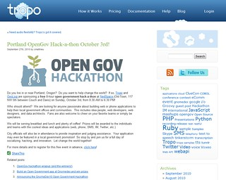 Portland OpenGov Hackathon sponsored by Tropo and Geoloqi | by aaronparecki