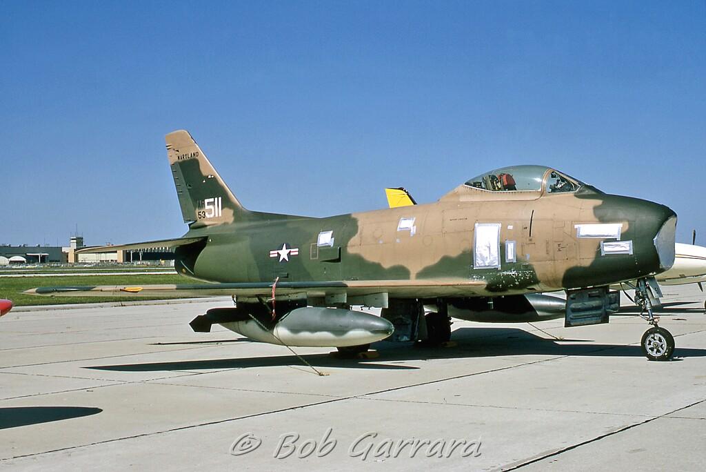 53511 F 86h Usaf Maryland Ang North American F 86h