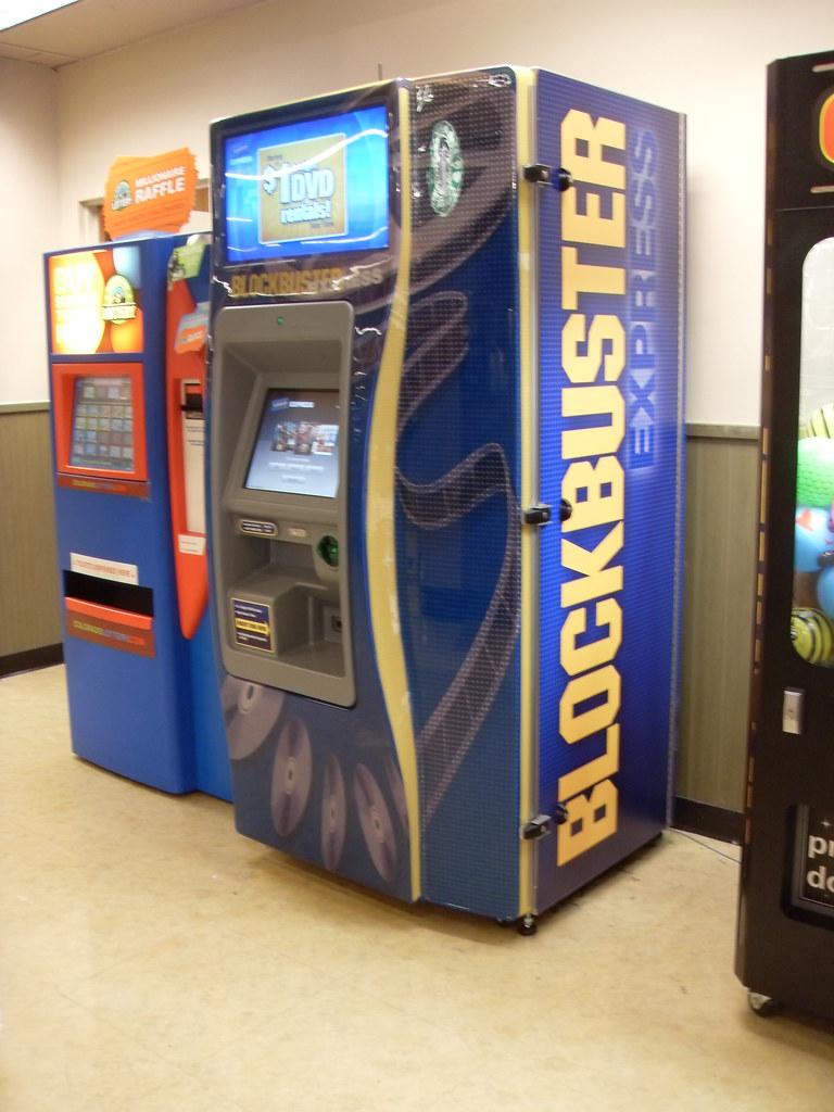 blockbuster video kiosk the former video rental kiosk