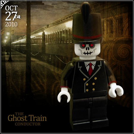 october 27 ghost train conductor by morgan190 - Lego Halloween Train