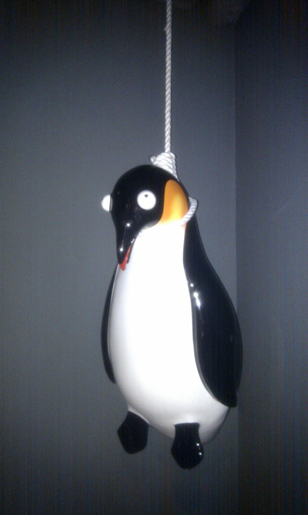 Hanged Penguin | Entrance to the 8 club at Bank in London ...