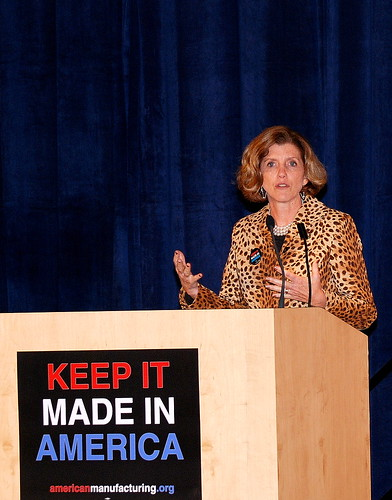 Congresswoman Kathy Dahlkemper at the Keep It Made in America Town Hall Meeting in Erie, PA on 10/18/10 | by Alliance for American Manufacturing