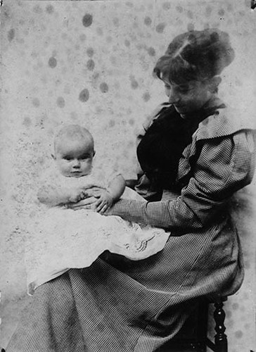 Nicholson, Mabel Pryde (1871-1918) in 1894 Holding Ben Nicholson Aged 5 Months (Tate Gallery Archives) | by RasMarley