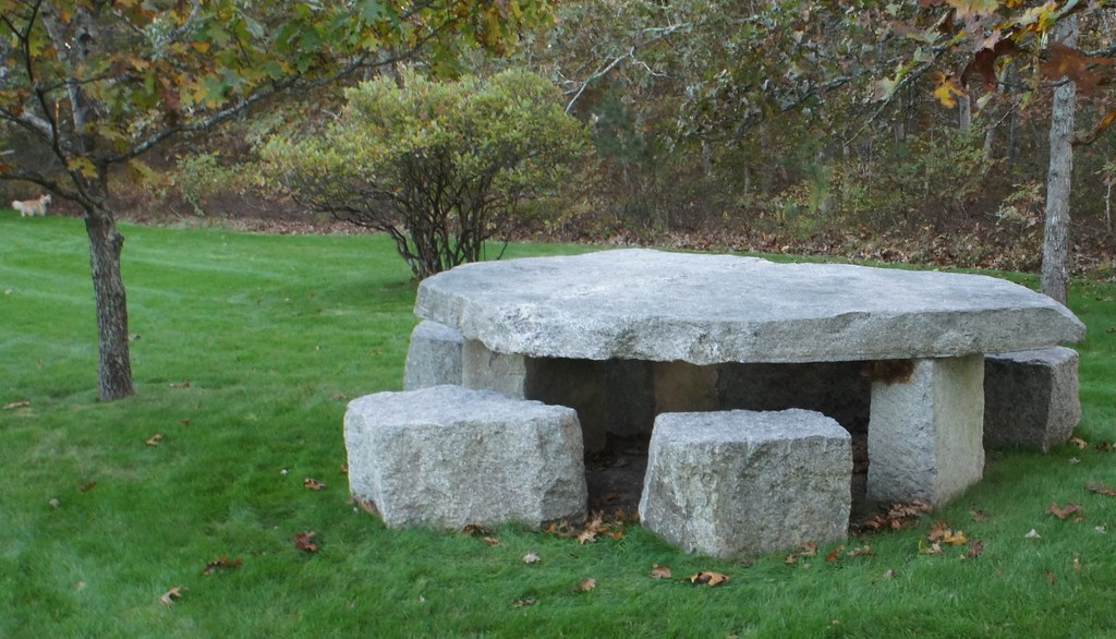 ... Stone Picnic Table Made For A Piping Hot Bowl Of Stone Soup | By Vbecker