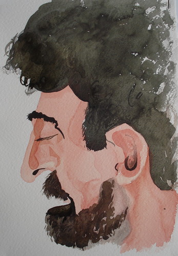 Caricature made by Anne, in Cárcamo's course | by Dona Minúcia