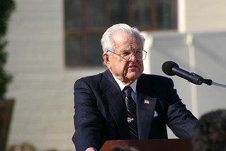 Donor Jack Broome speaking at Dolphin Fountain Dedication | by California State University Channel Islands