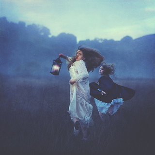 running from wind | by brookeshaden