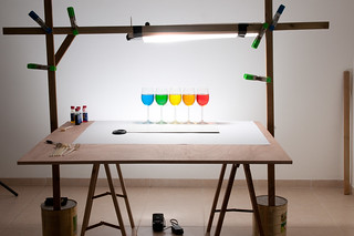 Playing with food color - 5 glasses setup | by udijw