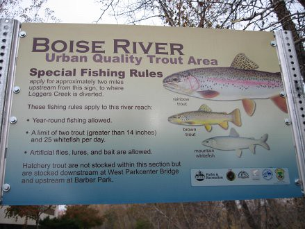 Boise river sign project 1 fly fishers of idaho flickr for Fly fishing boise idaho