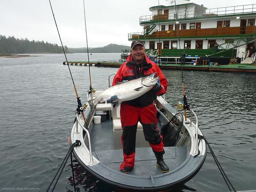 Salmon fishing at langara fishing lodge world famous for Langara fishing lodge