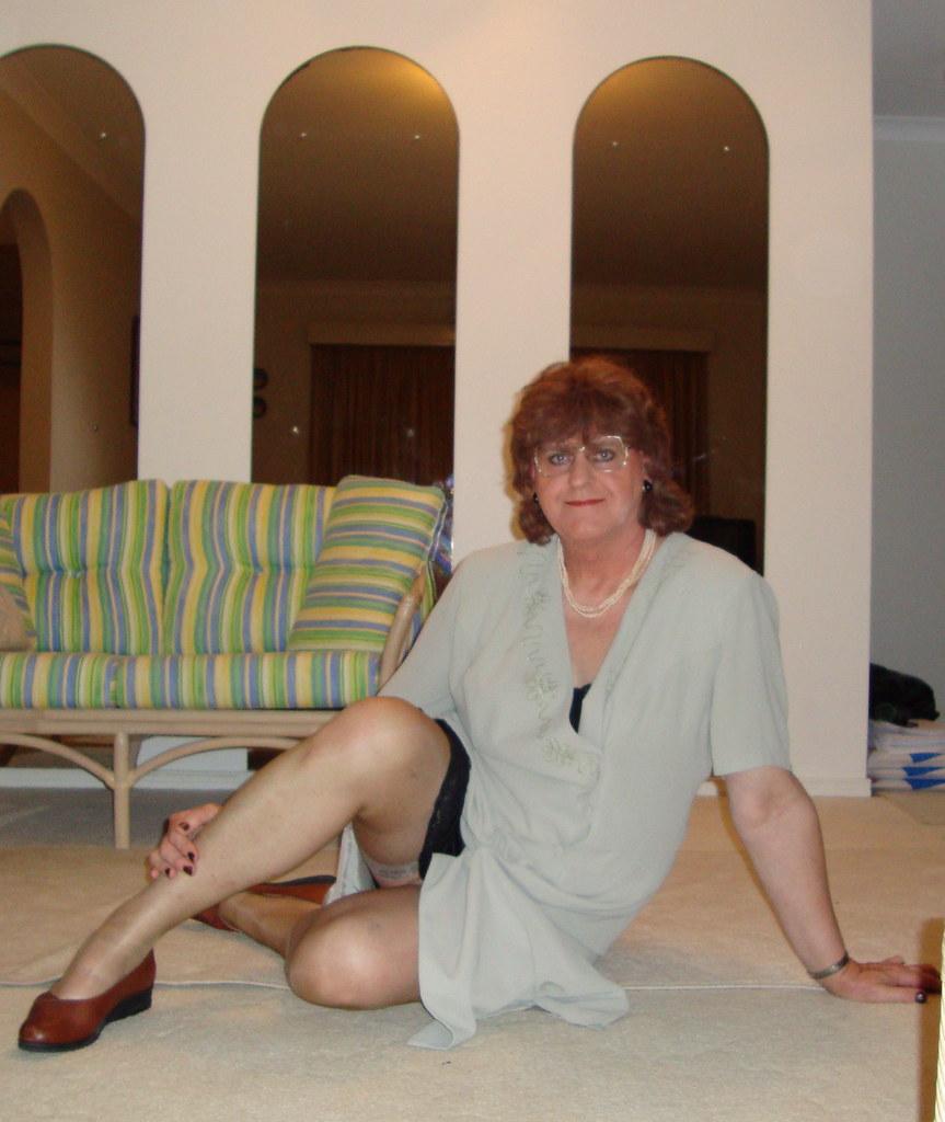 Grandma in white stockings enjoys his hard cock 7