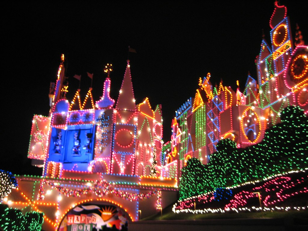 disneyland at christmas time by more bs