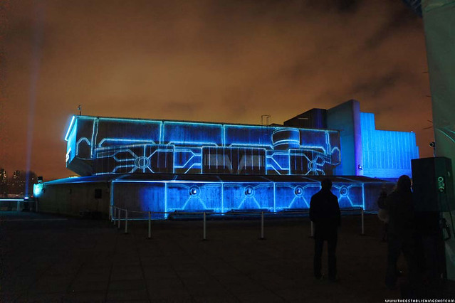 HP ePrint TRON: Legacy Experience - Tron Light Show - London Southbank