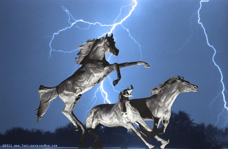 Lightning At Horse World BW Color Print | Lightning At Horse… | Flickr