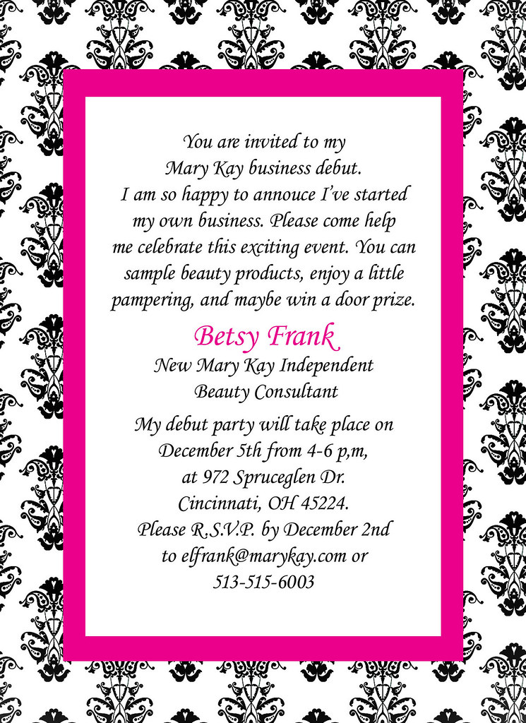 mary kay invitation | this is a freelance piece, i did it fo… | flickr, Party invitations