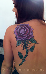 Temptu Rose on back